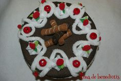 Felt cherry cake