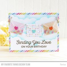 """45 Likes, 2 Comments - Yoshie Nakagaki (@torico27) on Instagram: """"@mftstamps June Card Kit, Sending Birthday Wishes is available for purchase now! #mftstamps…"""""""