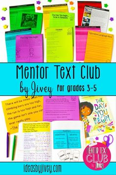 I am so excited to offer this club to upper elementary teachers who love to use newer-released picture books as mentor texts in their classroom! We are going to work alongside each other all year to make sure you ROCK your lessons! #mentortexts #mentorsentences #3rdgrade #4thgrade #5thgrade
