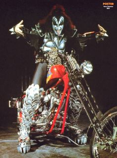 Kiss Gene Simmons Chopper #music #motorcycles #celebrities