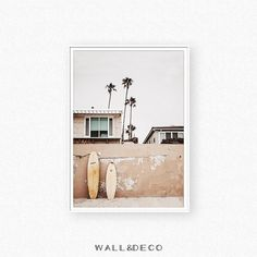 Surf print, summer wall art, California wall art, surf poster, summer poster, San Diego wall decor, house print, surfboard printable, ocean