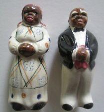 Vintage Uncle Remus & Aunt Jemima Salt and Pepper Shakers. Uncle Remus, Aunt Jemima, Shake Shake, Salt And Pepper Set, Antique Decor, Salt Pepper Shakers, Mothers Love, Cookie Jars, Black Art