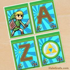 Click here to download free printable legend of zelda birthday click here to download a free legend of zelda banner pack stopboris Gallery