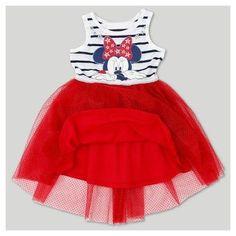Toddler Girls' Minnie Mouse A Line Dress Disney Eggshell 18M, Size: 18 M, Beige