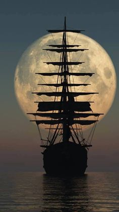 Brown ~ mighty sailing ship - this is a photo - I would love to paint it.Brown ~ mighty sailing ship - this is a photo - I would love to paint it. Beautiful Nature Wallpaper, Beautiful Moon, Boat Wallpaper, Old Sailing Ships, Ocean Sailing, Ship Drawing, Ship Paintings, Moon Photography, Landscape Photography