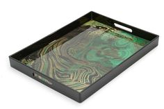 A glamorous tray large enough to make a decorative statement or to have breakfast in bed.