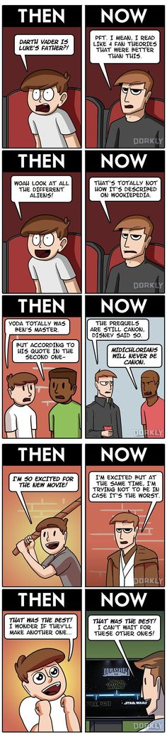 Star Wars Movies: Then VS Now << it's so sad to me that so many fans have to be so hateful now.