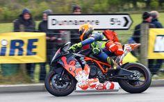 Irish road racing Doctor John hinds on his KTM RC8R