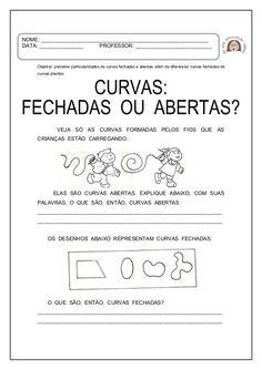 atividades DE LINHAS retas, curvas abertas e fechadas educação infantil - objetivos - Pesquisa Google