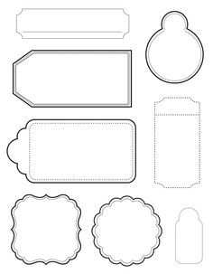 New Kaisercraft Coordinating 'Tags' clear stamps and Tags & Shapes Sets. The Tags & Shapes come in 3 colours - White, Ma. Card Tags, Gift Tags, Tag Templates, Diy And Crafts, Paper Crafts, Diy Gift Box, Printable Labels, Printables, Clear Stamps