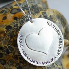 The Mother's Day Deadline is April 28 - how about the My Heart is Full Necklace for mom or grandma? Perfect for lots of kids! $85