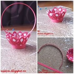 quilling my passion: tutorial cosulet cu ghiocei/quilled snowdrops basket tutorial