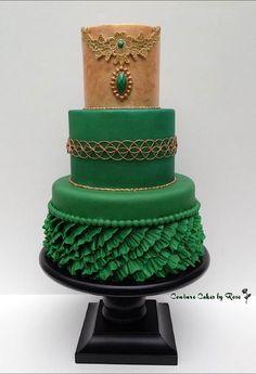 Cake Wrecks - Home. Stunning green cake with ruffles. Pretty Cakes, Beautiful Cakes, Amazing Cakes, Cake Wrecks, Green Cake, Couture Cakes, Ruffle Cake, Fondant Ruffles, Just Cakes