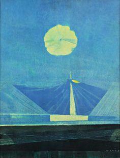 The late Max Ernst (?) - The Ghost Ship (Le vaisseau fantôme) #art #surrealism @N17DG