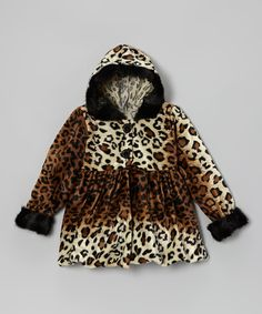 Take a look at this Tan Leopard Hooded Coat - Infant, Toddler & Girls on zulily today! ADORABLE!!!