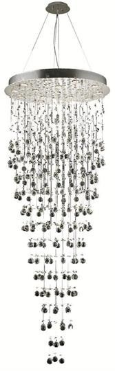 "Bernadette - Large Hanging Fixture (16 Light Contemporary Grand Crystal Chandelier) - 6895G30  ➤ Dimensions: W/D 30"" x H 80"""