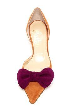 Butter shoe,nice, Bow Kitten Heels