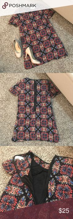 Nordstrom B.P. Collection Dress Excellent condition, never worn! Zips in the back. Geometric design Nordstrom Dresses