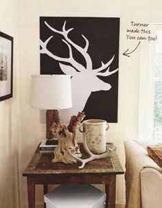 477240891734301764 Deer head canvas art   DIY.