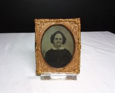 ANTIQUE TINTYPE PHOTO OLD WOMEN Nice Condition Rosy Cheeks Sad Expression