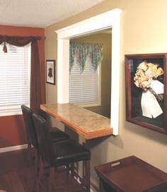 kitchen pass through window / breakfast nook at chase lea