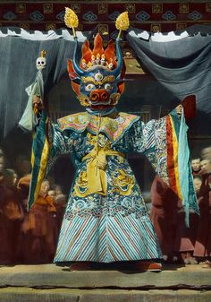 The Chief Dancer Impersonates King Tibet Dr. Joseph F. Rock     |   #733 of 32388