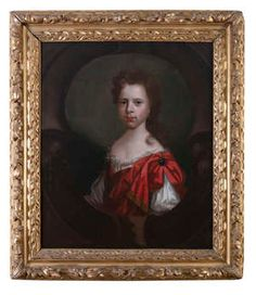 ATTRIBUTED TO THOMAS POOLEY - of a young man, bust length wearing full wig and lace cravat and companion portrait of a young woman wearing a white silk dress with a crimson gold braided cloak Oils on canvas, each 75 x Bot White Silk Dress, Irish Traditions, Cravat, Cloak, Young Man, Oil On Canvas, Women Wear, Portrait, Artwork