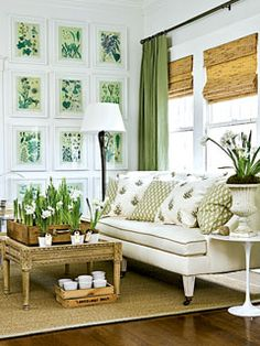 Green living room.