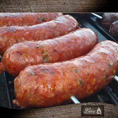 Chorizos frescos y con un delicioso sabor, exclusivos en Luva Casa de Carnes. #Luva #CasadeCarnes