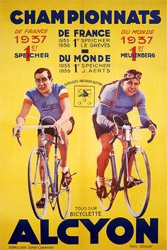 Vintage Tour de France poster
