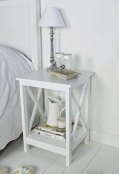 Henley White Bedside table for white furniture