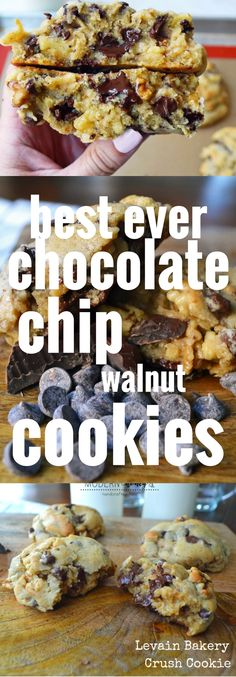 Best Ever Chocolate Chip Walnut Cookies. Secret tips and tricks to make big chocolate chip cookies every single time. Levain Bakery Cookie Copycat Recipe.