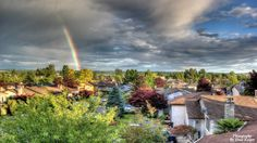 Rainbow over the city of #Langley, BC #rainbow