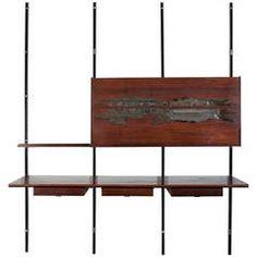 Rare Wall-Mounted #Bar Cabinet by Osvaldo Borsani & Arnaldo Pomodoro, circa 1958