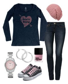 winter outfit ideas, pink, black converse casual outfit, tomboy style, tomboy chic, winter clothes, heart graphic tee shirt