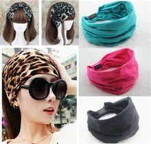 2015 nieuwe variëteit methode van slijtage katoen vrouwen sport brede elastische hoofdbanden voor vrouwen haaraccessoires tulband hoofdband hoofddeksel(China (Mainland))