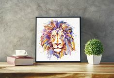 This item is unavailable Watercolor Portraits, Watercolor Paintings, Tiger Poster, Dog Paintings, Horse Art, Big Cats, Printable Wall Art, Original Artwork, Portrait Wall