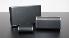 AllPlay-Trio von Panasonic: Die Funkboxen SC-ALL8, -ALL3 und der Stream-Player SH-ALL1C.