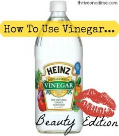 Great ideas for using vinegar in your beauty routine!