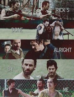 """Rick and Daryl - The Walking Dead - """"Rick's done alright by me."""""""