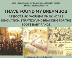 I found my dream job - By Romy Mouzannar Sfeir (MMK Class of 2012), Assistant Brand Manager of Skincare at Boots UK.