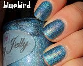 Bluebird 15ml: Custom Linear Holographic Nail Polish