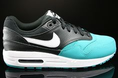 online store e9539 10de2 Cheap shoes Nike Air Max 1 men Gs black Turquoise white HOT SALE! HOT PRICE!