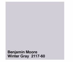 Benjamin Moore Winter Gray 2117 60 This Is A Wonderfully Soft Soothing Color Grey Purple Paintpurple