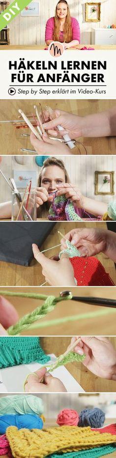 Lerne die Grundmaschen des Häkelns GRATIS - Step by Step erklärt im Video-Kurs auf Makerist.de
