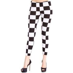 2b Bebe Checkered Tights Worn once. Excellent condition. One of a kind fun tights. Will also stretch to fit a Large. Clean and ready to wear. Smoke-free pet-free home. bebe Pants Leggings