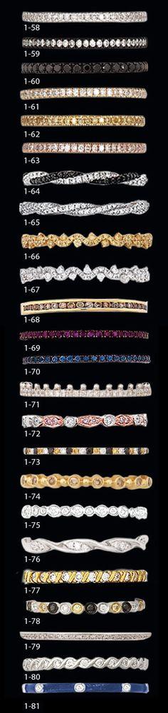 Hidalgo Rings -18K Gold Diamond or Platinum Stackable Engagement Mountings - Guard Rings - Insert Rings - 18K Gold or Platinum Stackable Bracelets