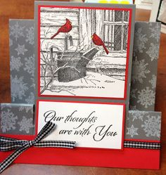 SGD Presents...: December 2013 Christmas Mom, Christmas Cards, Impression Obsession Cards, December 2013, Blue Jay, Cardinals, Presents, Stamps, Art