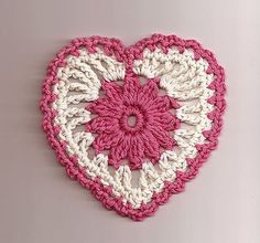 floral heart motif - free pattern on ravelry