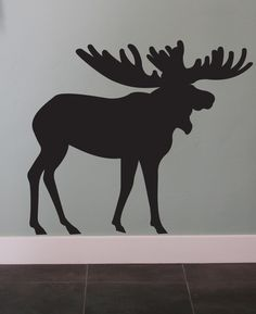 Moose Vinyl Wall Decal Art Animal by urbanexpressions on Etsy, $28.00~ This is Made Local too!!!